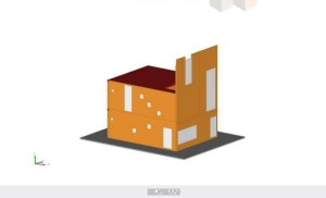Sunken House component model2:3