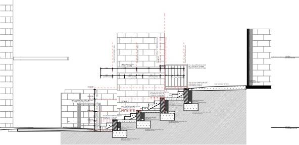Eumundi SS Section through southern terrace